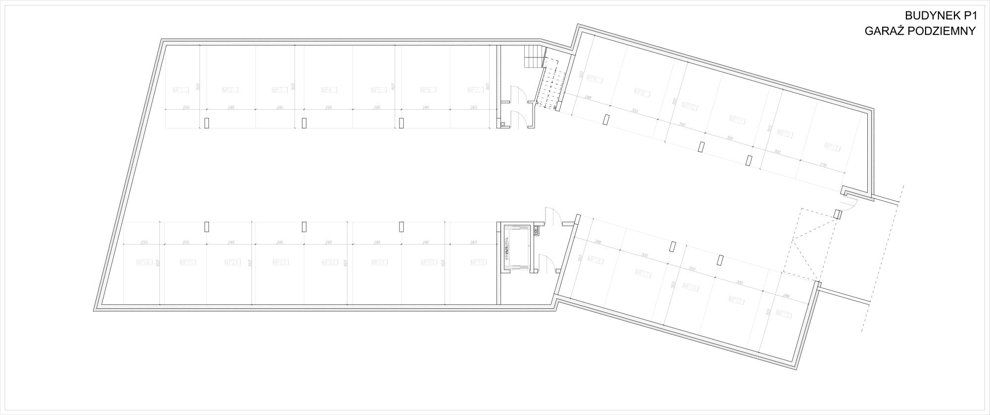 Kamieńskiego II - Budynek P1 - Garaż Podziemny